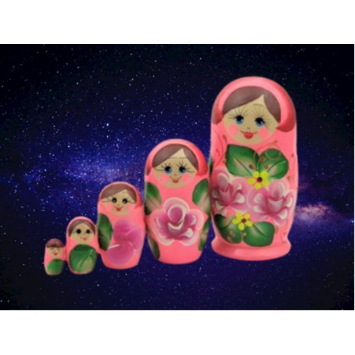 Hot Pink Russian Nesting Dolls