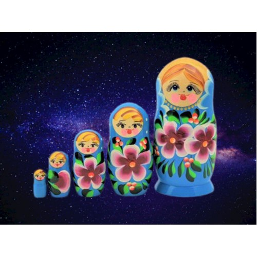 Powder Blue Russian Nesting Dolls