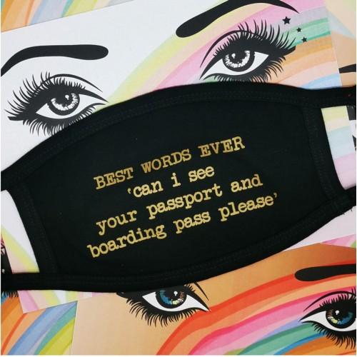 Best Words Ever - Face Mask